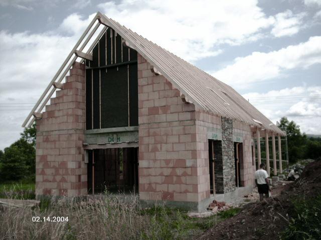 Charpente a ferme pignon structure bois